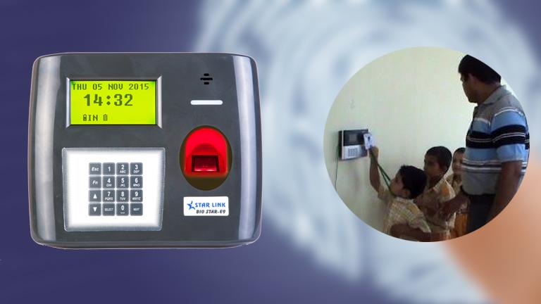 Biometric attendance machines in school | StarLink India