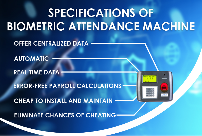 Specifications of Biometric Attendance Machine from Star Link