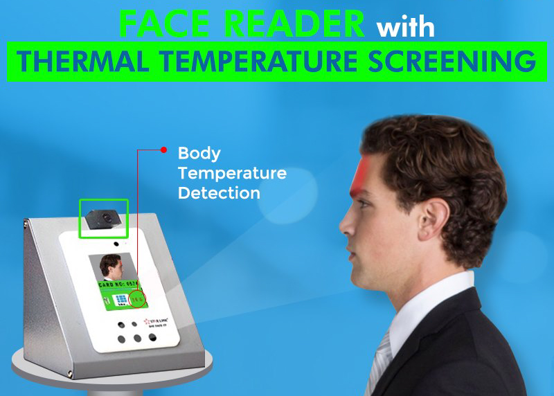 Biometric Face Reader With Thermal Temperature Screening Starlink