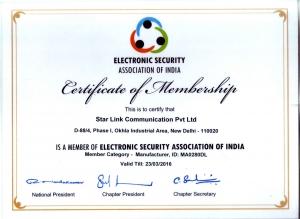 ESAI Certificate